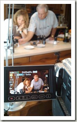 Filming on a project for T&G Woodware