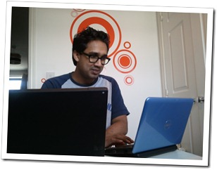 Arivind working away on Timedancer