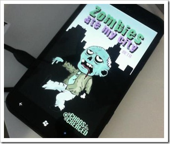 Zombies Ate My City running on an HTC Titan