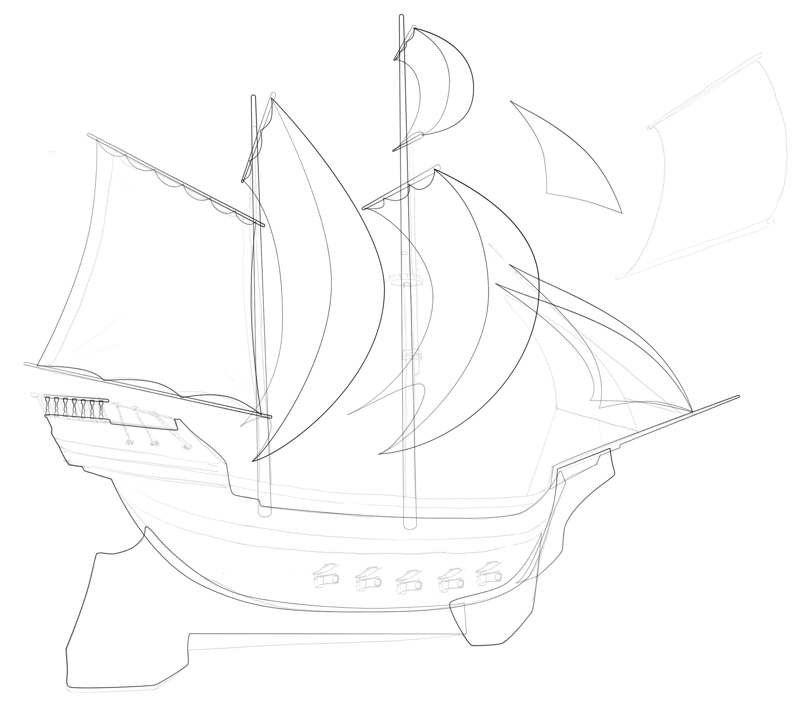 Pirate Ship 1 - Initial