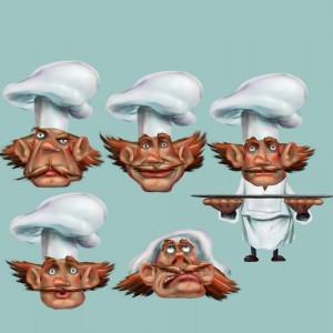 Pancake panic face expressions